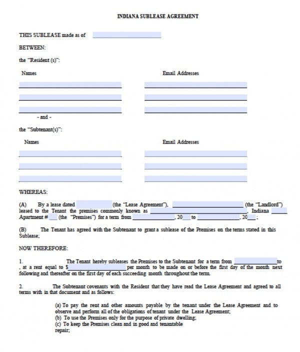 Free Commercial Rental Lease Agreement Templates  PDF