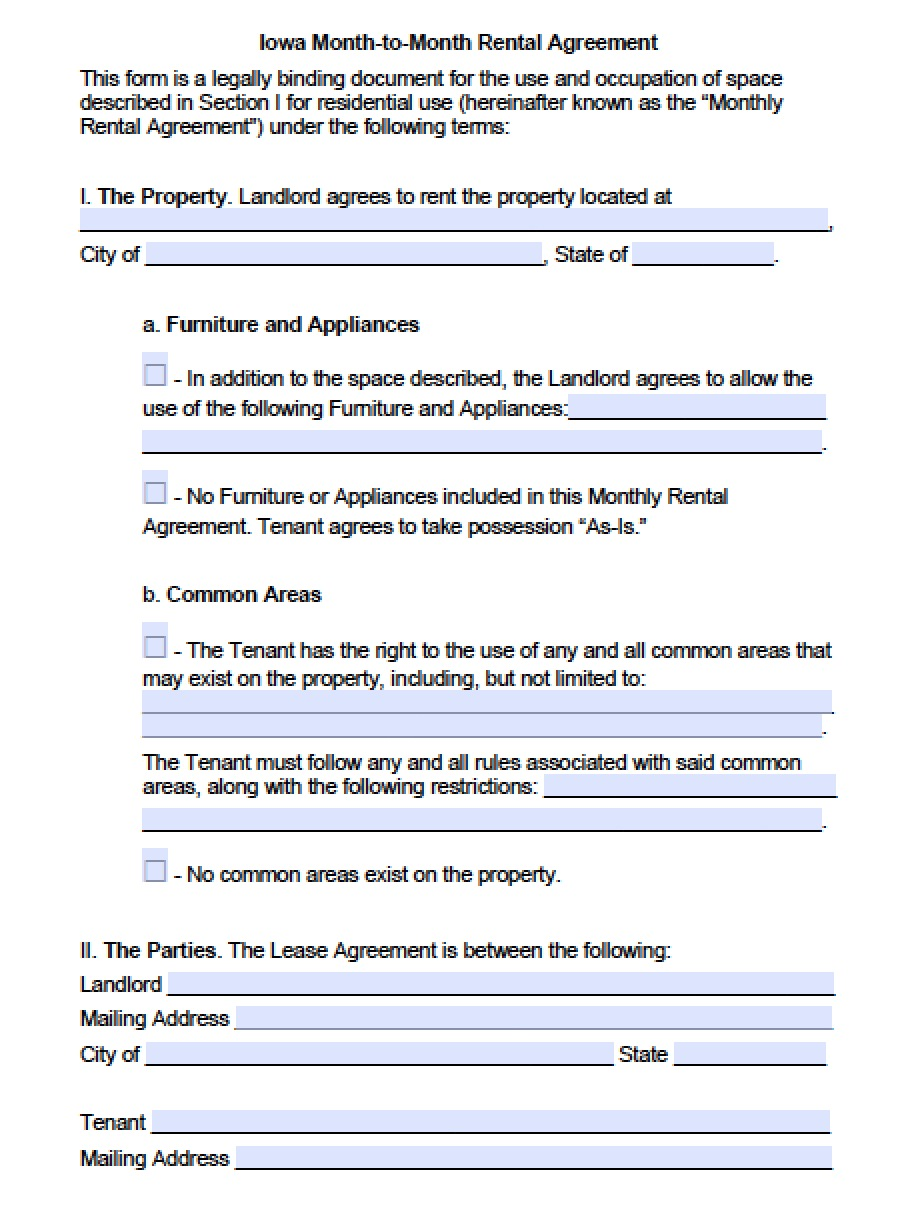 Rental Agreement Word Document Template Examples – Lease Template Microsoft Word