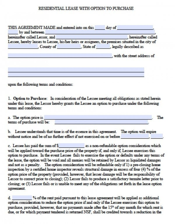 Free Georgia Residential Lease Agreement PDF – Residential Lease