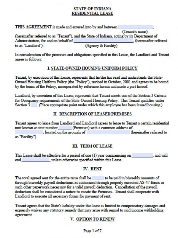 Lease Agreements Free Copy Rental Lease Agreement Free Printable