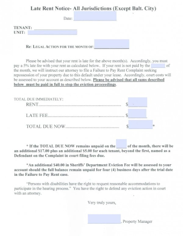 Free Eviction Notice Printable Sample Eviction Letter Form Best